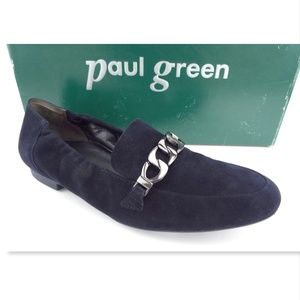 New PAUL GREEN Navy Chain Flats 5UK/US7.5